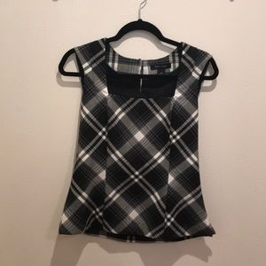 Plaid top - Black house white market - G059